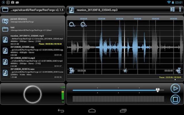 RecForge Pro - Audio Recorder screenshot 1