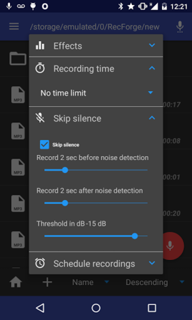 RecForge II Pro - Audio Recorder screenshot 6