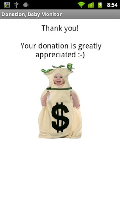 Baby Monitor Donation screenshot 1