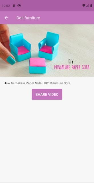 How to make doll furniture 💖 screenshot 3