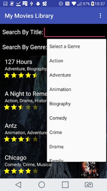 My Movies Library screenshot 2