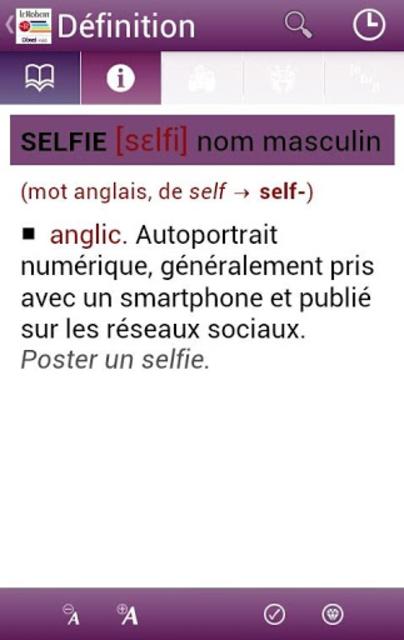 Dictionnaire Le Robert Mobile screenshot 2