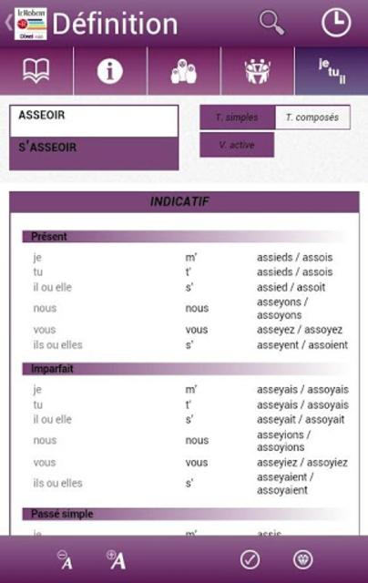 Dictionnaire Le Robert Mobile screenshot 3