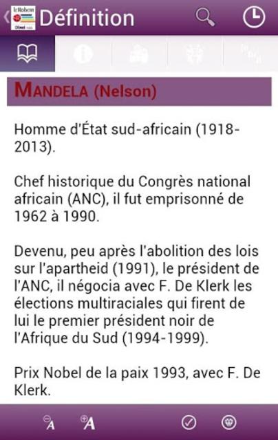 Dictionnaire Le Robert Mobile screenshot 4