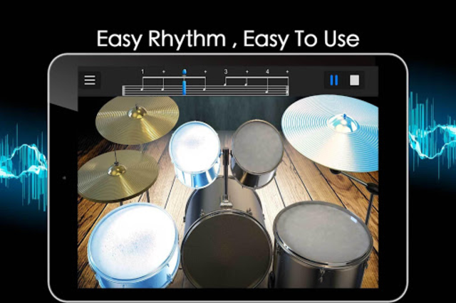 Easy Real Drums-Real Rock and jazz Drum music game screenshot 12