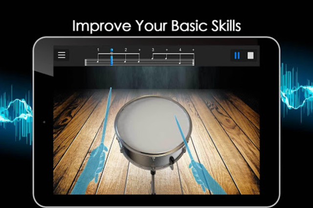 Easy Real Drums-Real Rock and jazz Drum music game screenshot 14