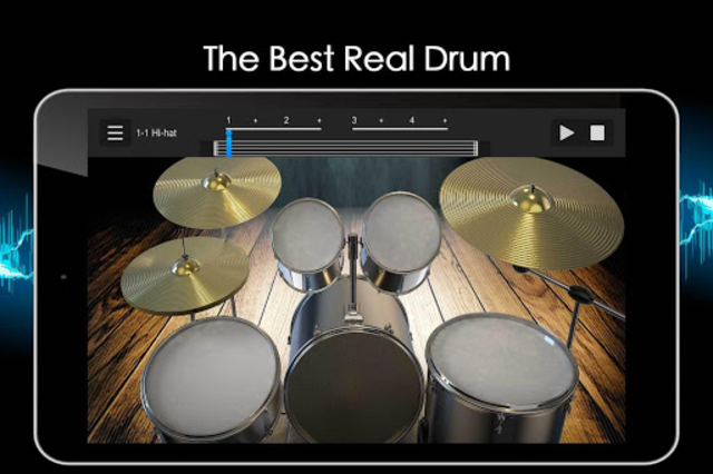 Easy Real Drums-Real Rock and jazz Drum music game screenshot 17
