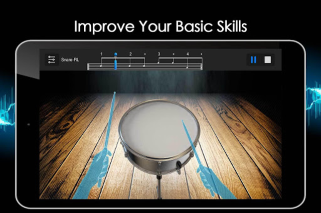 Easy Real Drums-Real Rock and jazz Drum music game screenshot 22