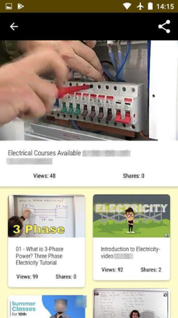 Electricity course - Electrician training screenshot 1