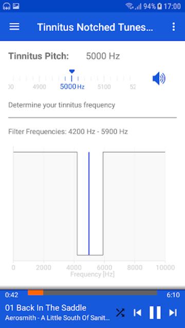 Tinnitus Notched Tunes screenshot 2