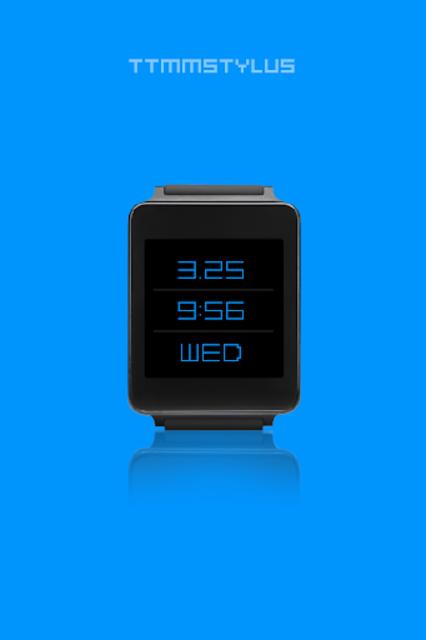 TTMMSTYLUS - Wear watch face screenshot 1