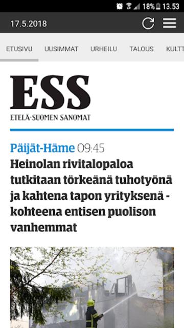 ESS – Etelä-Suomen Sanomat screenshot 1