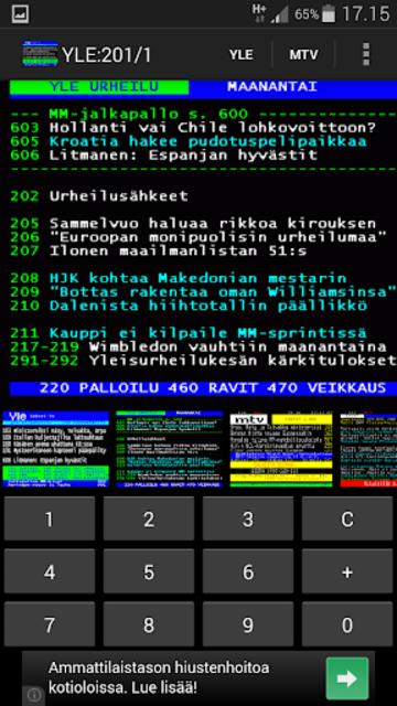 TekstiTV screenshot 2