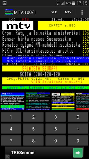 TekstiTV screenshot 3