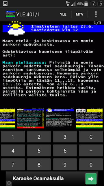 TekstiTV screenshot 4