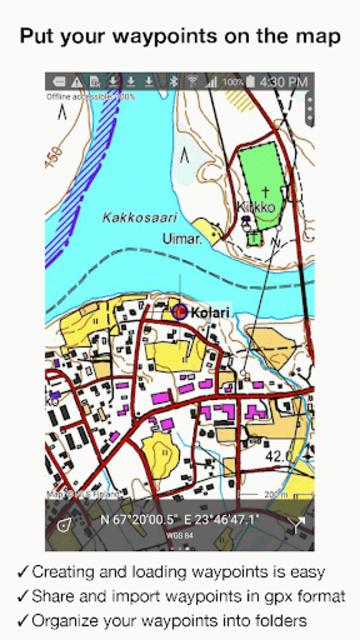 Topo GPS Finland screenshot 10
