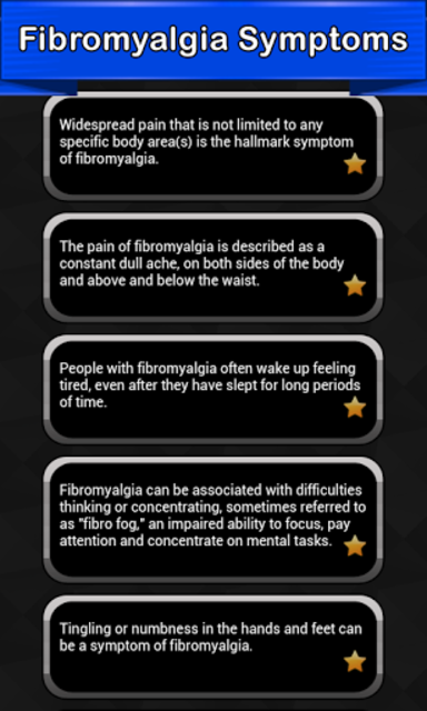 Fibromyalgia Symptoms screenshot 1