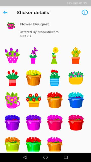 WAStickerApps Flowers screenshot 3