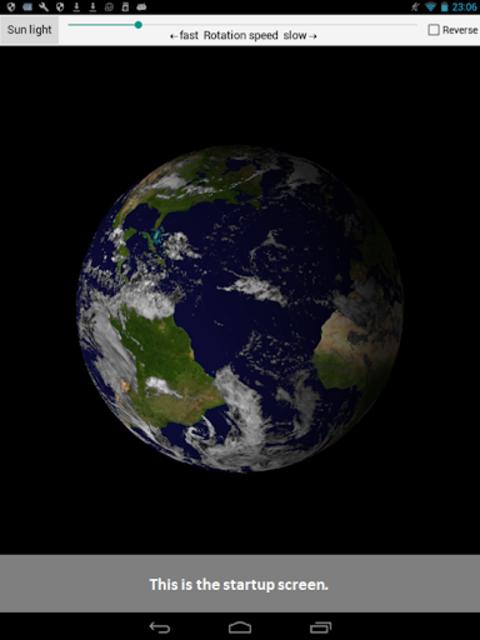 Earth rotation screenshot 1