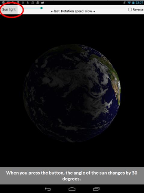 Earth rotation screenshot 2