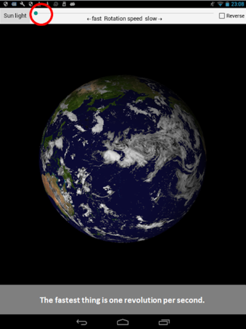 Earth rotation screenshot 3