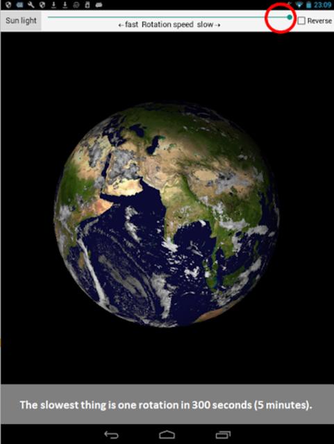 Earth rotation screenshot 4