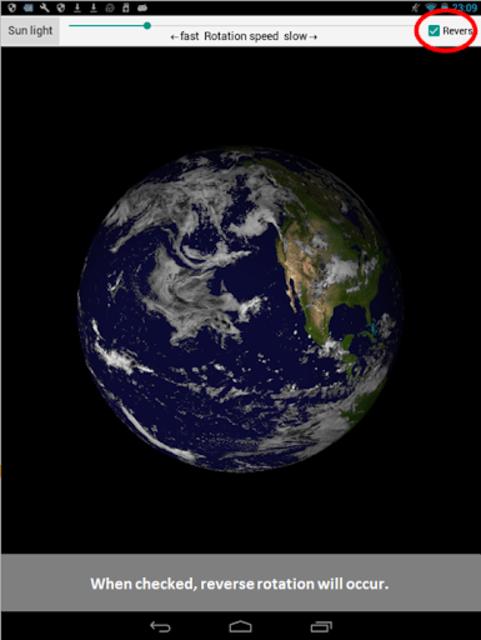 Earth rotation screenshot 5