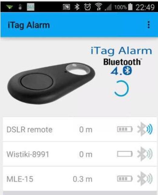 JG iTag Alarm screenshot 1