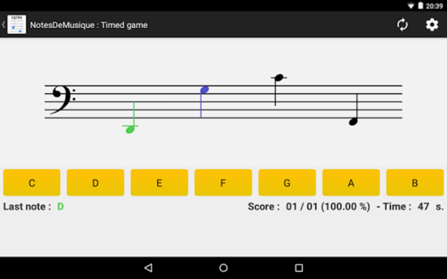 NotesDeMusique (Learning to read musical notation) screenshot 12
