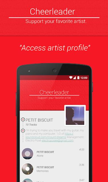 Cheerleader music player screenshot 2