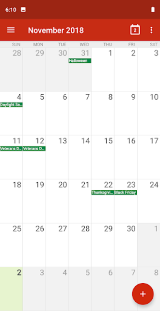 Calendar - Handy Calendar 2019,Reminder,ToDo screenshot 1