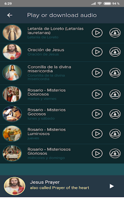 Prayers + Rosary + Bible Audio Pro screenshot 5