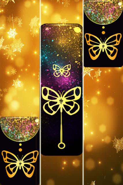 Gold Glitter ButterFly Piano Tiles 2018 screenshot 1