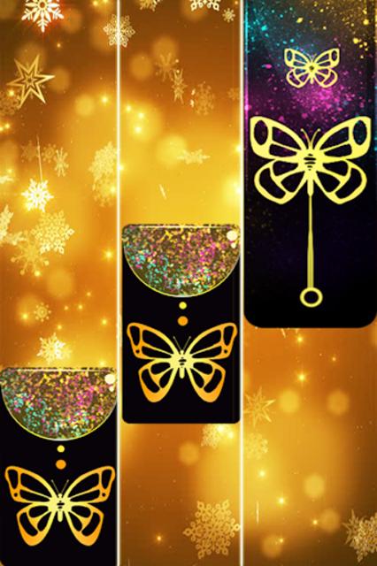 Gold Glitter ButterFly Piano Tiles 2018 screenshot 2