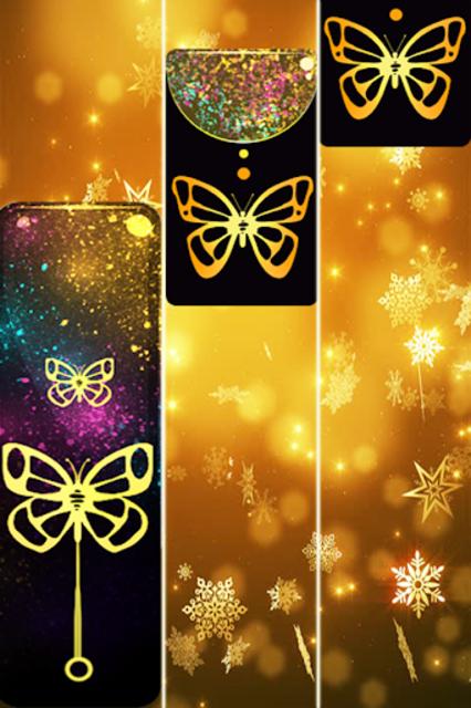 Gold Glitter ButterFly Piano Tiles 2018 screenshot 3