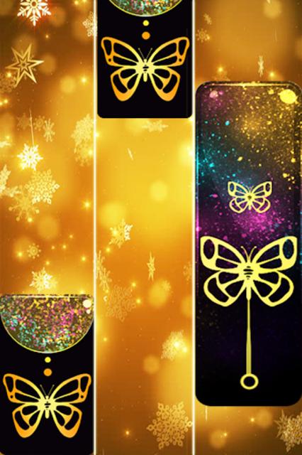 Gold Glitter ButterFly Piano Tiles 2018 screenshot 4