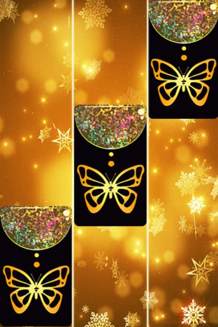 Gold Glitter ButterFly Piano Tiles 2018 screenshot 5