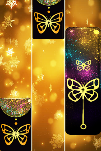 Gold Glitter ButterFly Piano Tiles 2018 screenshot 14