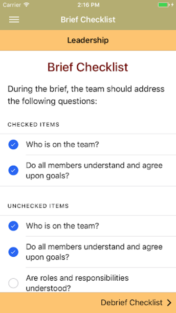 TeamSTEPPS® Pocket Guide screenshot 3