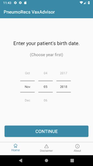 PneumoRecs VaxAdvisor screenshot 2