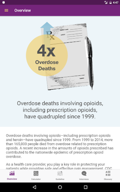 CDC Opioid Guideline screenshot 14
