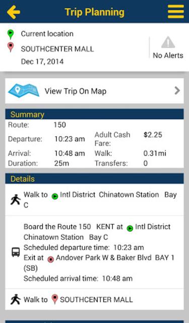 Puget Sound Trip Planner screenshot 2