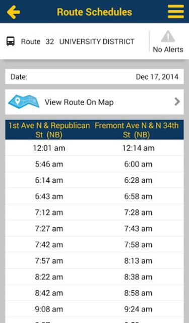 Puget Sound Trip Planner screenshot 5
