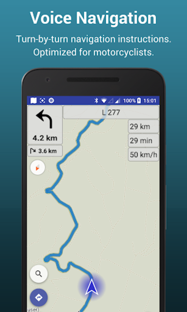 Kurviger Pro - Motorcycle and Scenic Roads Navi screenshot 1