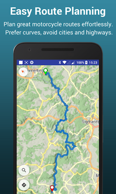 Kurviger Pro - Motorcycle and Scenic Roads Navi screenshot 2