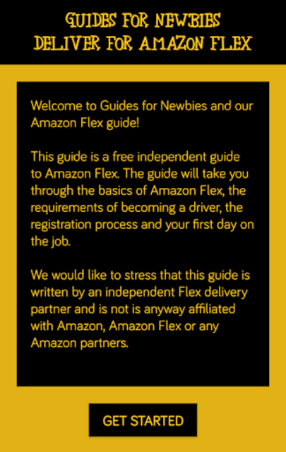 Deliver for Amazon Flex - Guides For Newbies screenshot 1