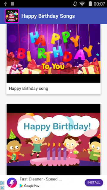 Happy Birthday Songs 2019 screenshot 1