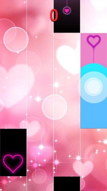 Heart Piano Tiles Pink screenshot 1