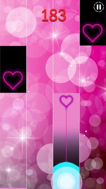 Heart Piano Tiles Pink screenshot 2