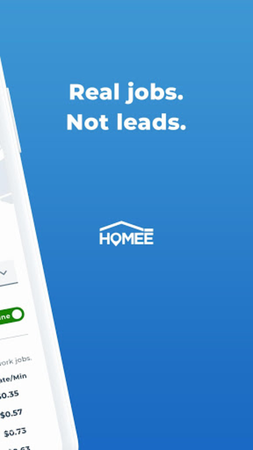 HOMEE Pro: Real Home Services Jobs NOT Leads screenshot 2